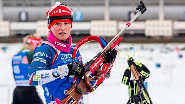 Veronika Vítková při SP v německém Oberhofu.