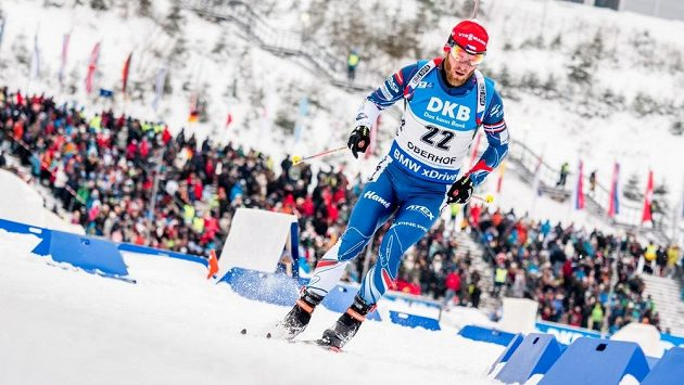 Michal Šlesingr na trati sprintu v Oberhofu - ilustrační foto.