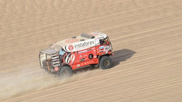 Aleš Loprais s tatrou během Rallye Dakar 2013