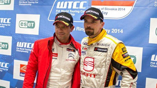Petr Fulín (vpravo) a legendární Sebastien Loeb.