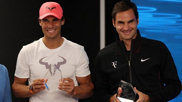 Rafael Nadal a Roger Federer.