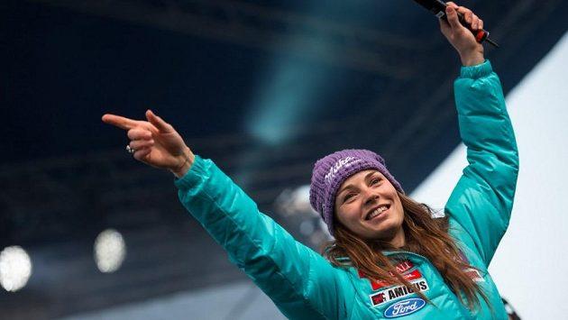 Slovinská lyžařka Tina Mazeová.