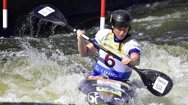 Kateřina Kudějová během semifinálové jízdy.