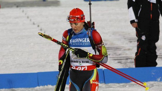 Biatlonistka Jitka Landová.