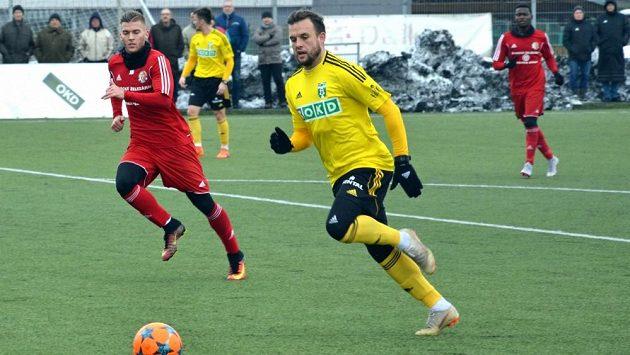 Lukáš Budínský dal jediný gól Karviné v přípravě proti Třinci, která skončila 1:1.