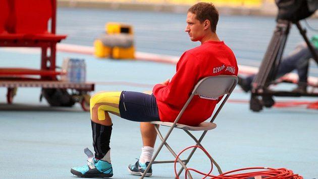 Vítězslav Veselý při kvalifikaci mistrovství světa v Moskvě.