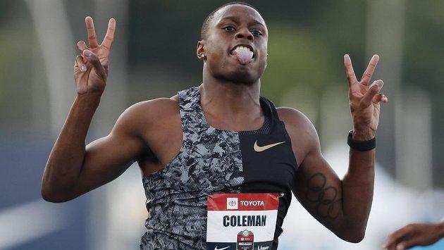 Američan Christian Coleman, největší favorit mužské stovky.
