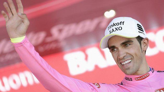 Lídr Gira d'Italia Alberto Contador