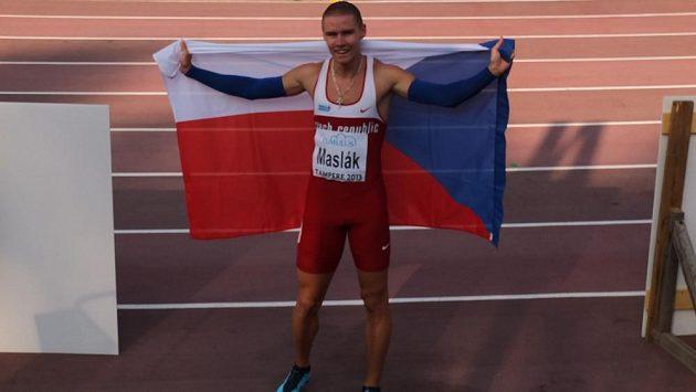 Pavel Maslák po zisku bronzu na ME do 23 let v Tampere.