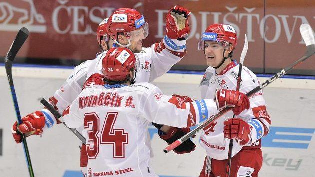 Gólová radost hokejistů Třince.