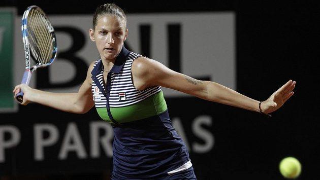 Karolína Plíšková na turnaji v Římě.