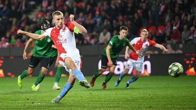 Slávista Tomáš Souček vymazal z penalty vedení Příbrami.