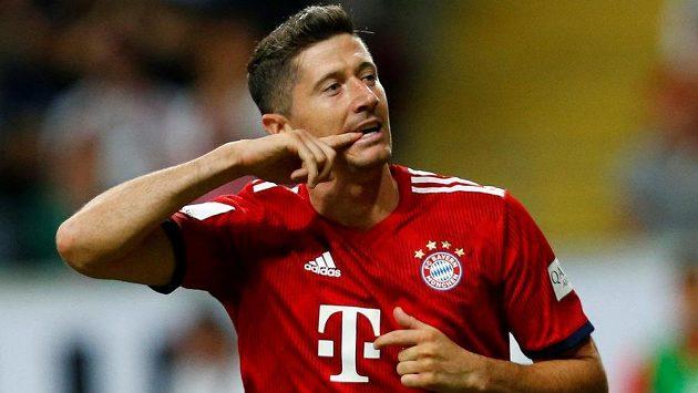 Robert Lewandowski z Bayernu si proti Frankfurtu s chutí zastřílel.
