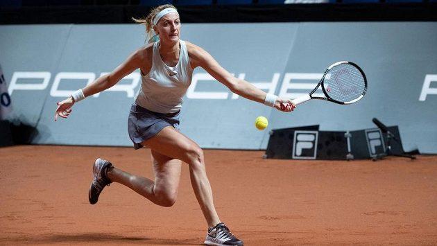 Petra Kvitová na snímku z turnaje ve Stuttgartu.