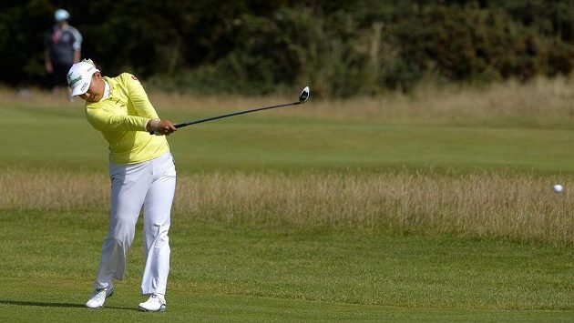 Japonská golfistka Miki Saiki na turnaji British Open.