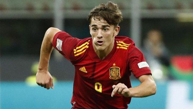 Španělský supertalent Gavi v utkání Ligy národů proti Itálii.