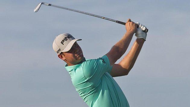 Americký golfista Harris English na turnaji v Mexiku.