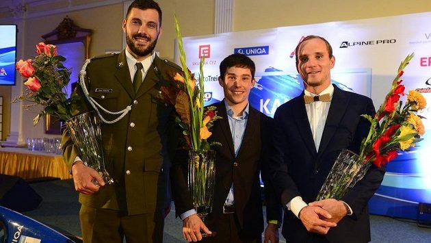 V anketě Kanoista roku 2019 se na prvním místě umístil Jiří Prskavec (uprostřed), na druhém Josef Dostál (vlevo) a třetí místo obsadil Vít Přindiš (vpravo).