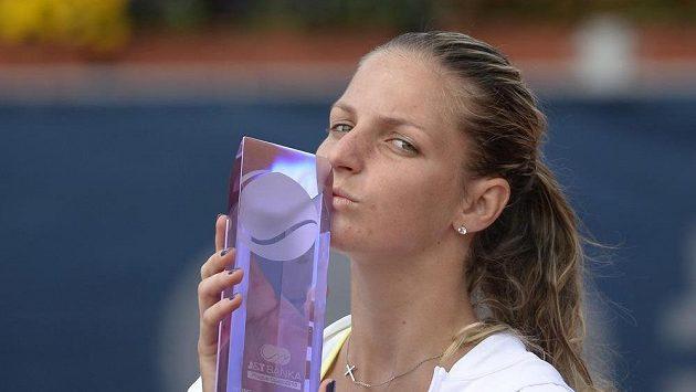 Vítězka turnaje v Praze Karolína Plíšková.