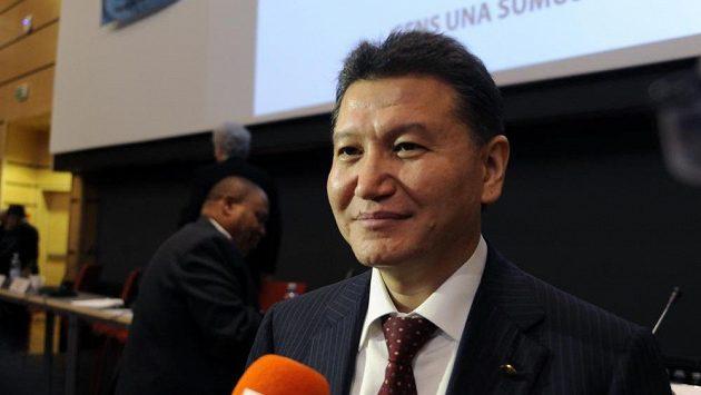 Staronový šéf Mezinárodní šachové federace (FIDE) Kirsan Iljumžinov.