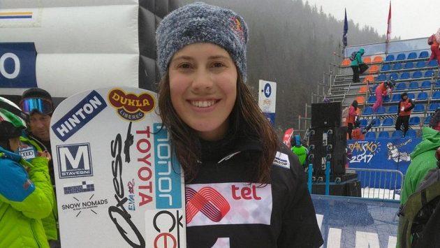 Česká snowboardistka Eva Samková.