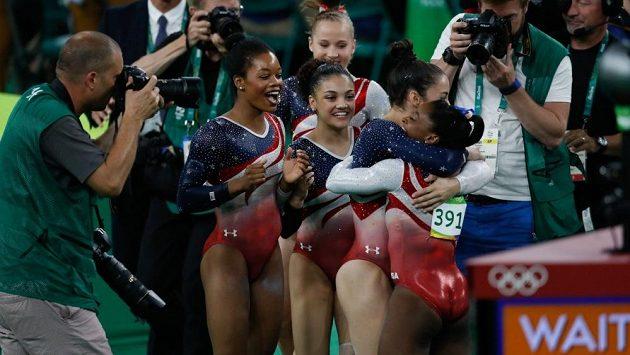 Americké gymnastky na OH v Riu. Ilustrační snímek.