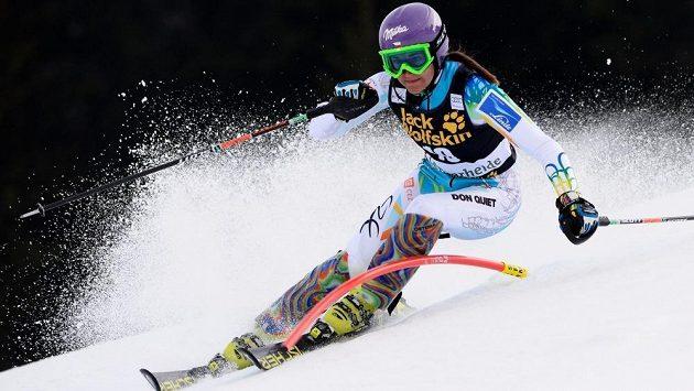 Česká lyžařka Šárka Strachová.