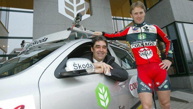 Bývalý cyklista Claude Criquielion (vlevo) a jeho syn Mathieu.
