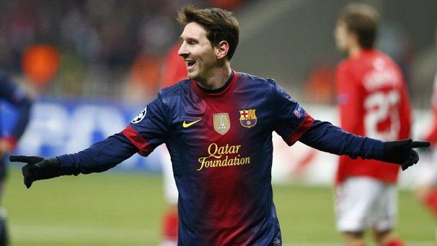 Lionel Messi se raduje z gólu.