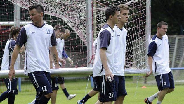 Fotbalisté FK Teplice při pondělním zahájení přípravy na novou sezónu