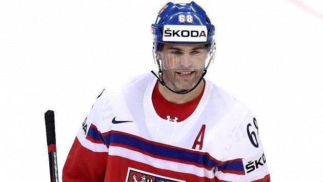 Jaromír Jágr v reprezentačním dresu. Oblékne se do něj při Světovém poháru?