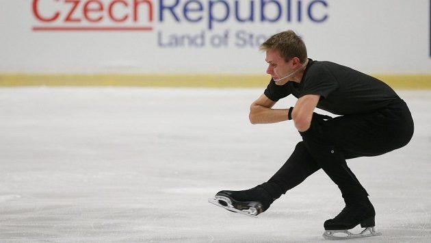 Michal Březina při tréninku na mistrovství Evropy v Ostravě.