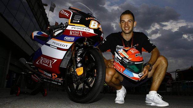 Český motocyklista Jakub Kornfeil si Velkou cenu České republiky nechal udělat kapotáž v českých barvách.