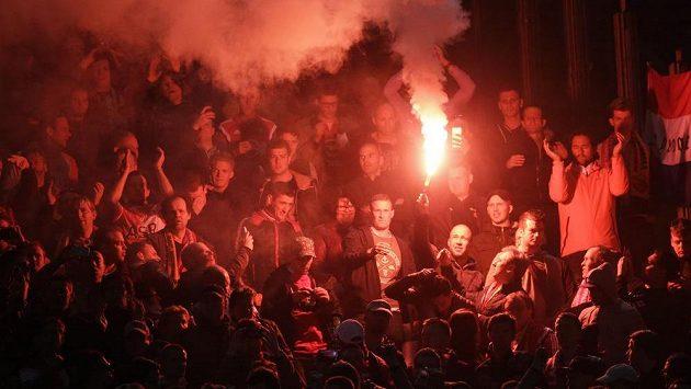 Fotbaloví fanoušci - ilustrační snímek.