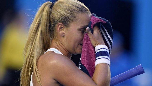 Dominika Cibulková zažila ve finále Australian Open mnoho perných momentů.