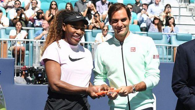 Serena Williamsová a Roger Federer.