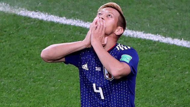 Japonec Keisuke Honda po třech minutách na hřišti vyrovnal duel se Senegalem.