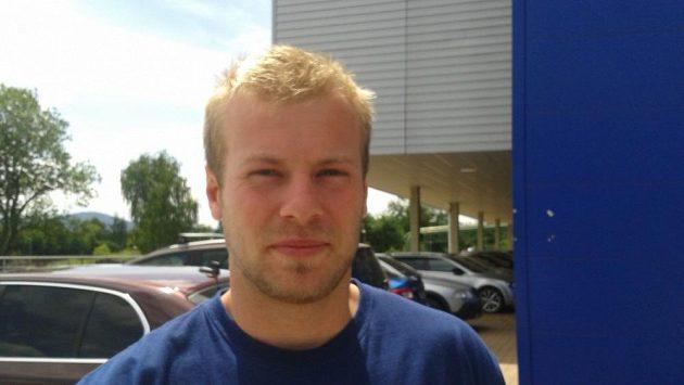 Liberecký hokejista Jan Stránský