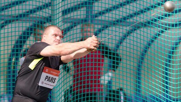 Maďarský kladivář Krisztián Pars v rámci atletického mítinku Zlatá tretra.