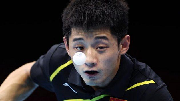 Čínské finále olympijského turnaje stolních tenistů vyhrál favorizovaný Čang Ťi-kche