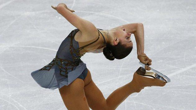 Ruska Adelina Sotnikovová ovládla soutěž krasobruslařek.
