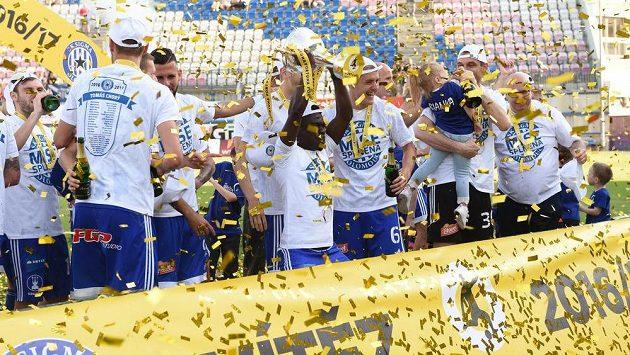 Olomouc slaví vítězství ve druhé lize a postup do nejvyšší soutěže.
