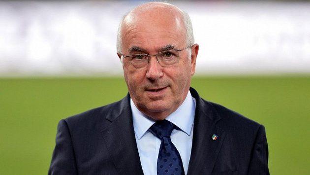 Předseda italského fotbalového svazu Carlo Tavecchio.