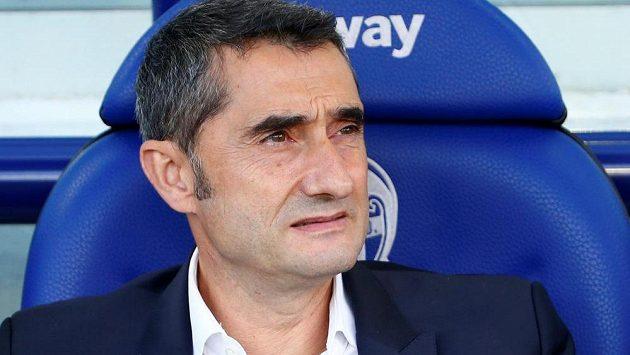 Kouč Barcelony Ernesto Valverde.
