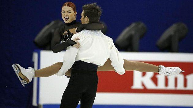 Britský taneční pár Olivia Smartová a Joseph Buckland na MS v Šanghaji.