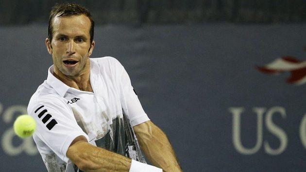 Radek Štěpánek nestačil v prvním kole US Open na Švýcara Wawrinku.