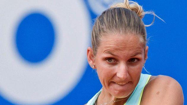 Česká tenistka Karolína Plíšková ve finále v Norimberku.
