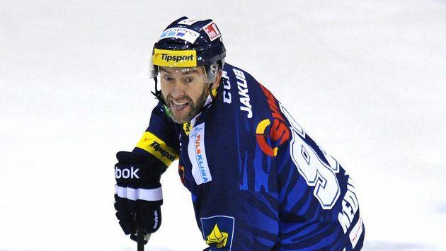 Liberecký útočník Petr Nedvěd v době, kdy hrál extraligu.