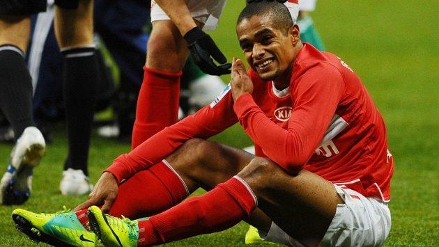 Brazilský útočník Welliton v dresu Spartaku Moskva.