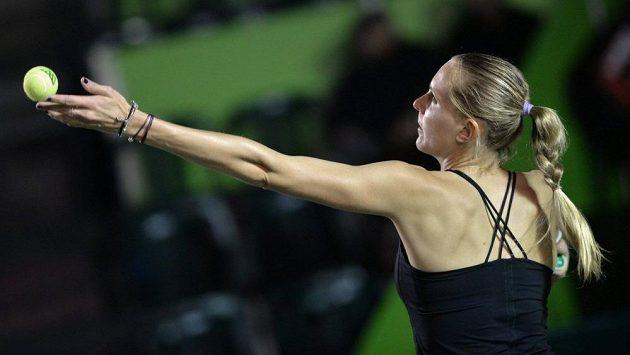 Česká tenistka Nicole Vaidišová na turnaji v Monterrey.